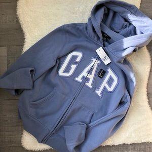 Girls Sparkly Gap logo Periwinkle Hoodie in XL
